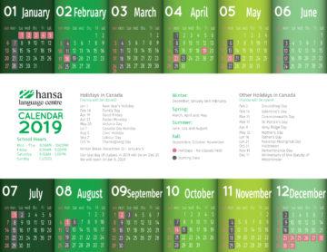 Hansa Calendar 2019