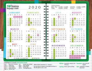 Hansa Calendar 2020