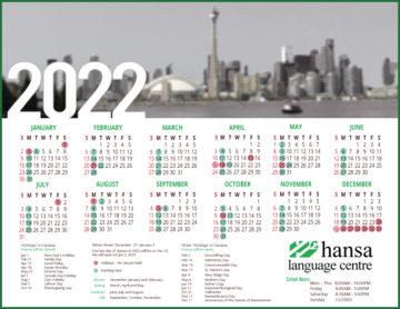 Hansa's Calendar 2022