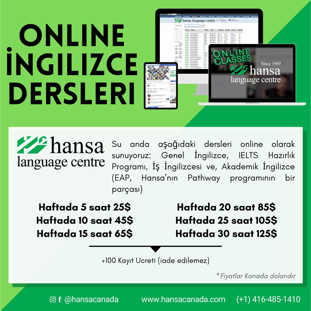 Online, online classes, hansa online, english classes, english online, english class, Genel İngilizce, IELTS Hazırlık Programı, İş İngilizcesi ve, Akademik İngilizce (EAP, Hansa'nın Pathway programının bir parçası),