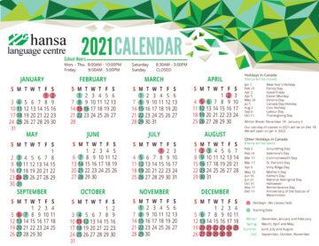 Hansa Calendar 2021